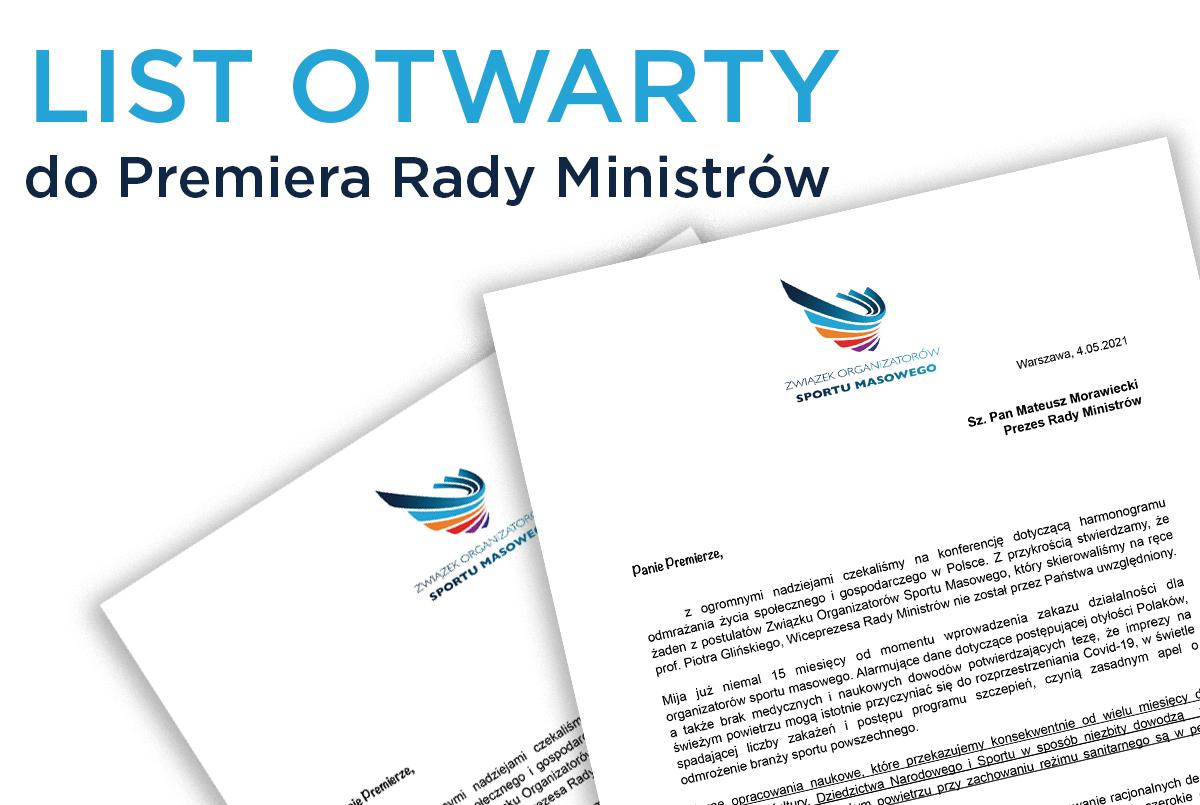 List otwarty do Premiera Rady Ministrów